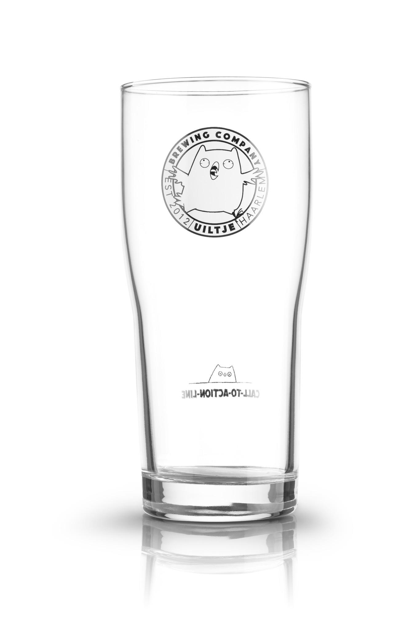 Uiltje- 0,5l Exclusive glas