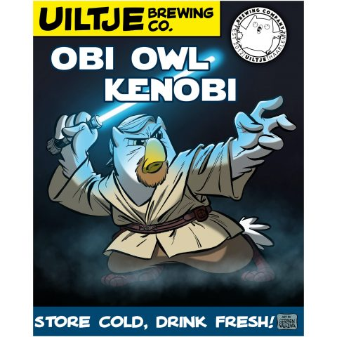 Uiltje- Obi Owl Kenobi- Poster