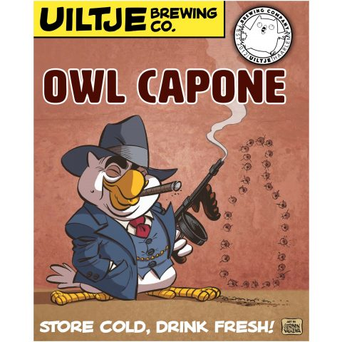 Uiltje- Owl Capone- Poster