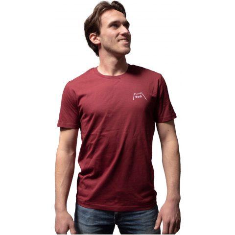Uiltje- Shirt Bordeaux Rood