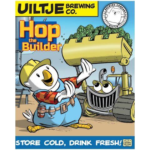 Uiltje- Hop the Builder- Poster
